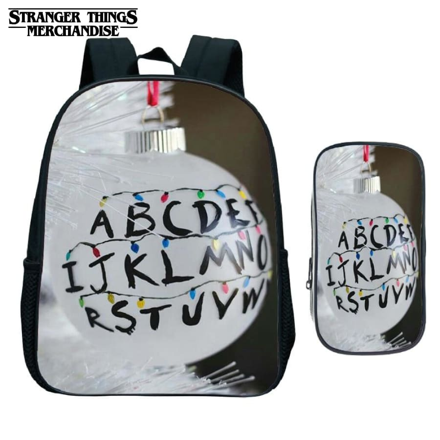 Stranger Things Backpack for School (FREE Pencil Case) <br> Christmas