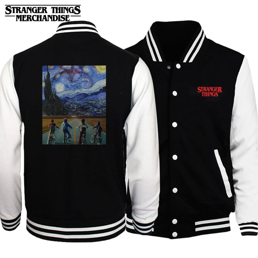 Stranger Things Varsity Jacket <br>Starry Night Cool Design