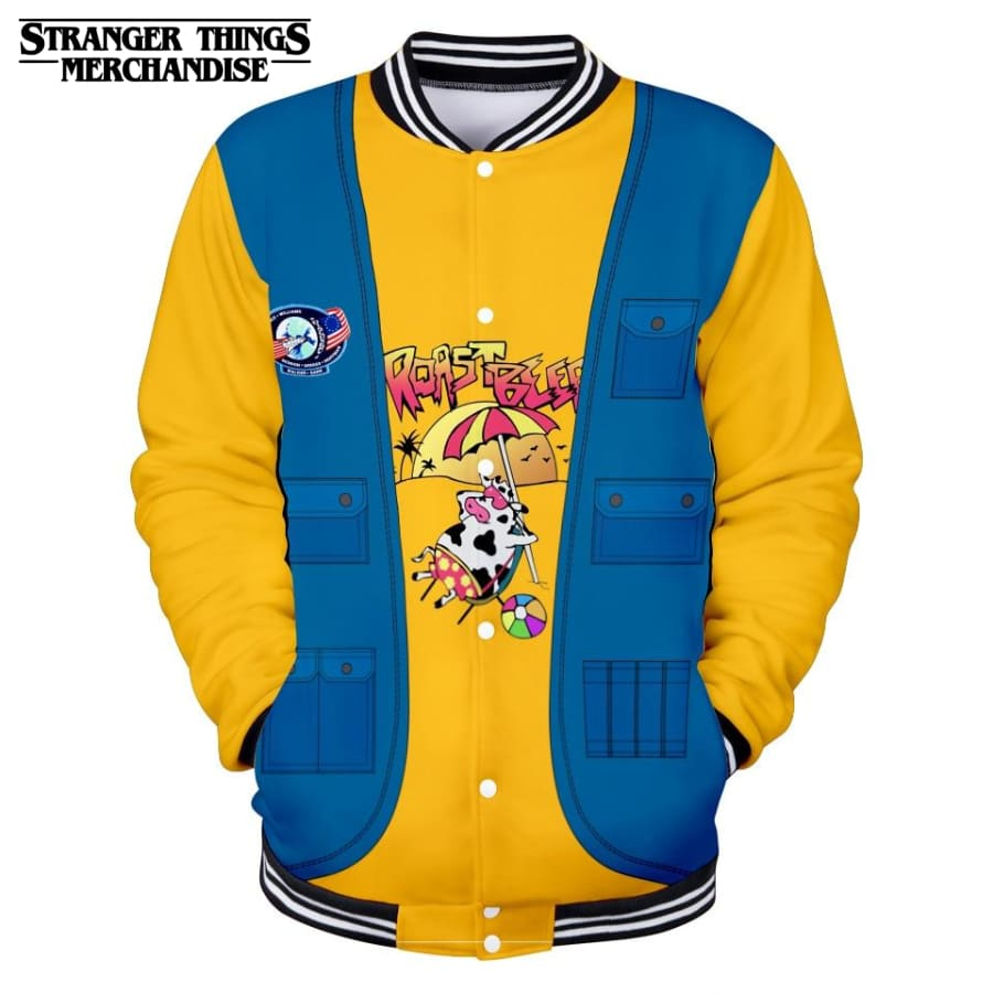 Stranger Things Varsity Jacket <br>Dustin Roast Beef