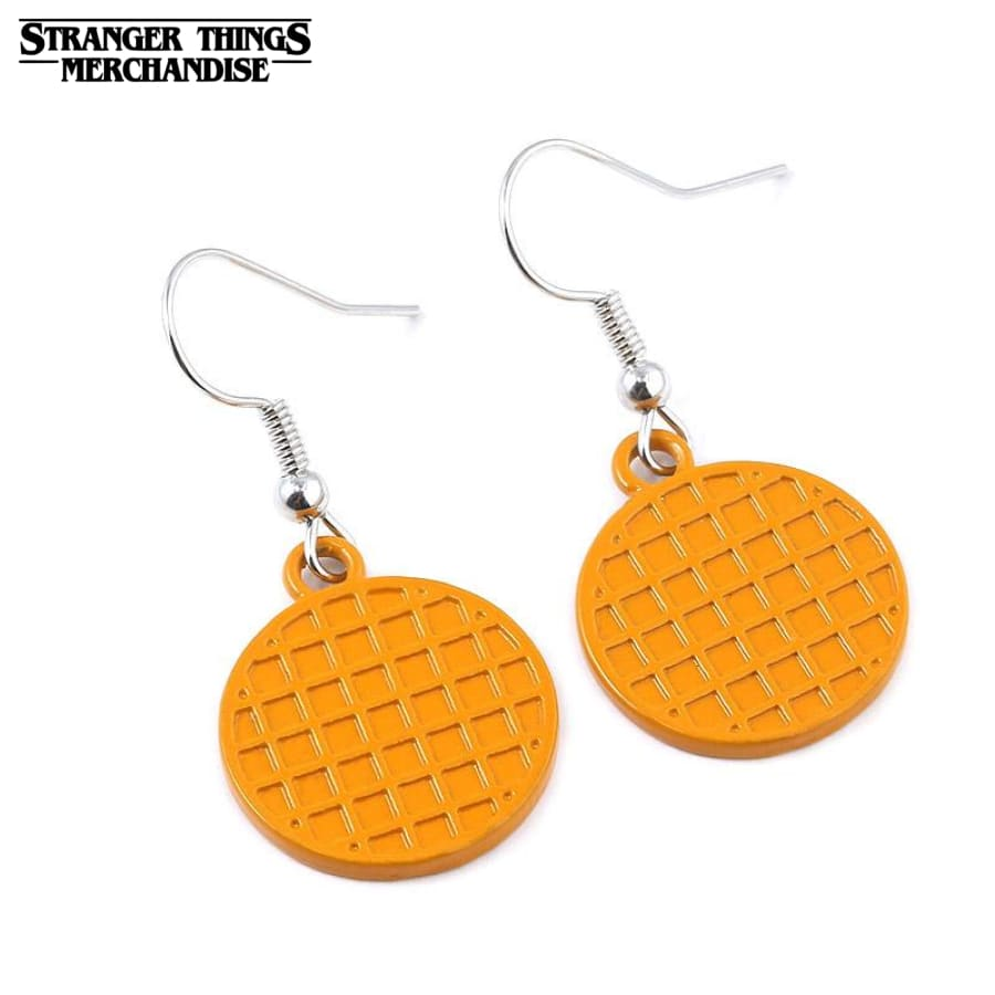 Stranger Things Earrings <br>Eggo