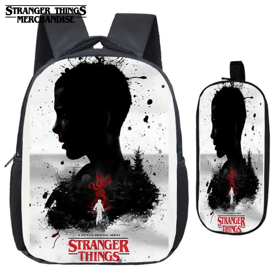 Stranger Things Backpack for School (FREE Pencil Case) <br> Eleven