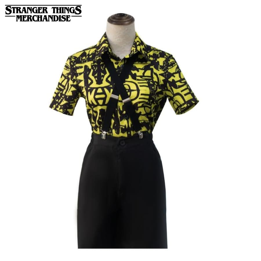 Stranger Things Outfit <br>Eleven Battle Outfit (Yellow) with suspenders