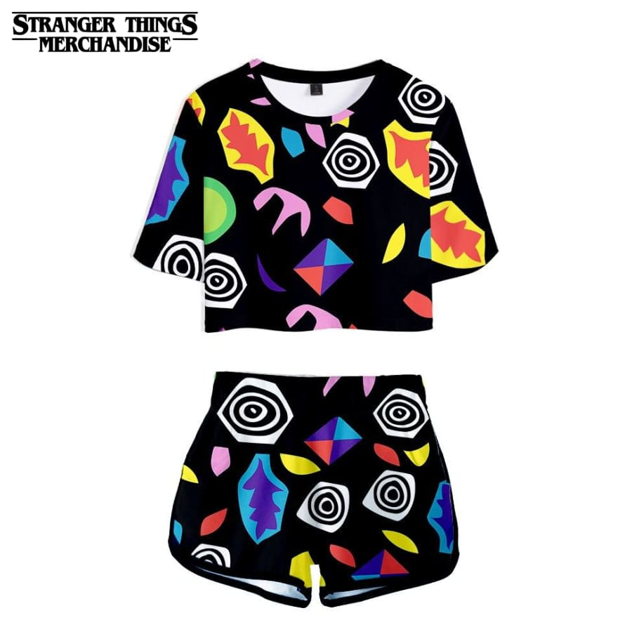 Stranger Things Crop Top and Shorts <br>Eleven Romper