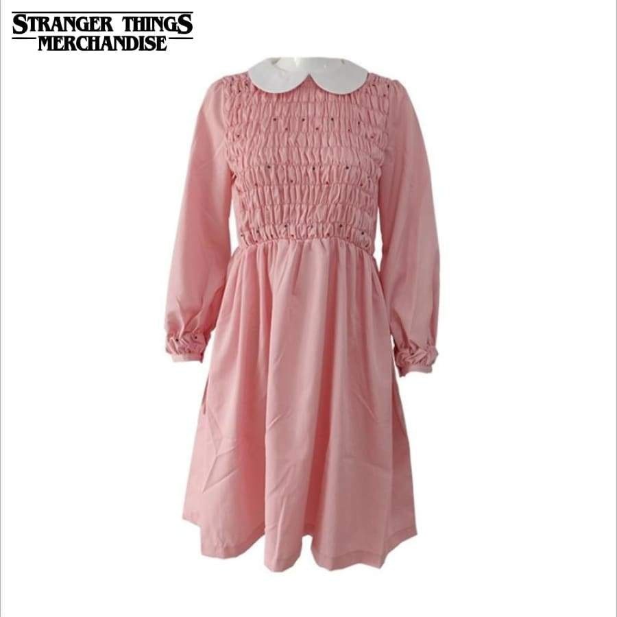 Eleven stranger things pink dress outfit