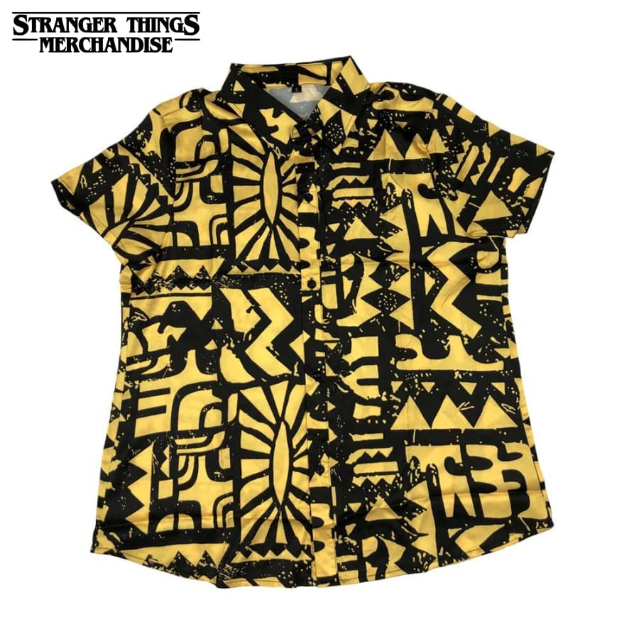 Stranger Things Shirt <br>Eleven Yellow Shirt (Aztec)