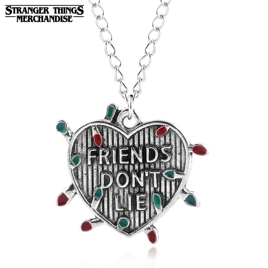 Stranger Things Necklace <br>Friend Don't Lie