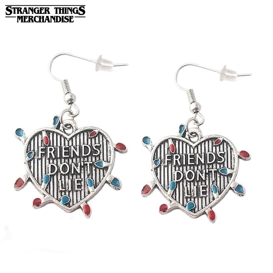 Stranger Things Earrings <br>Friends Don't Lie