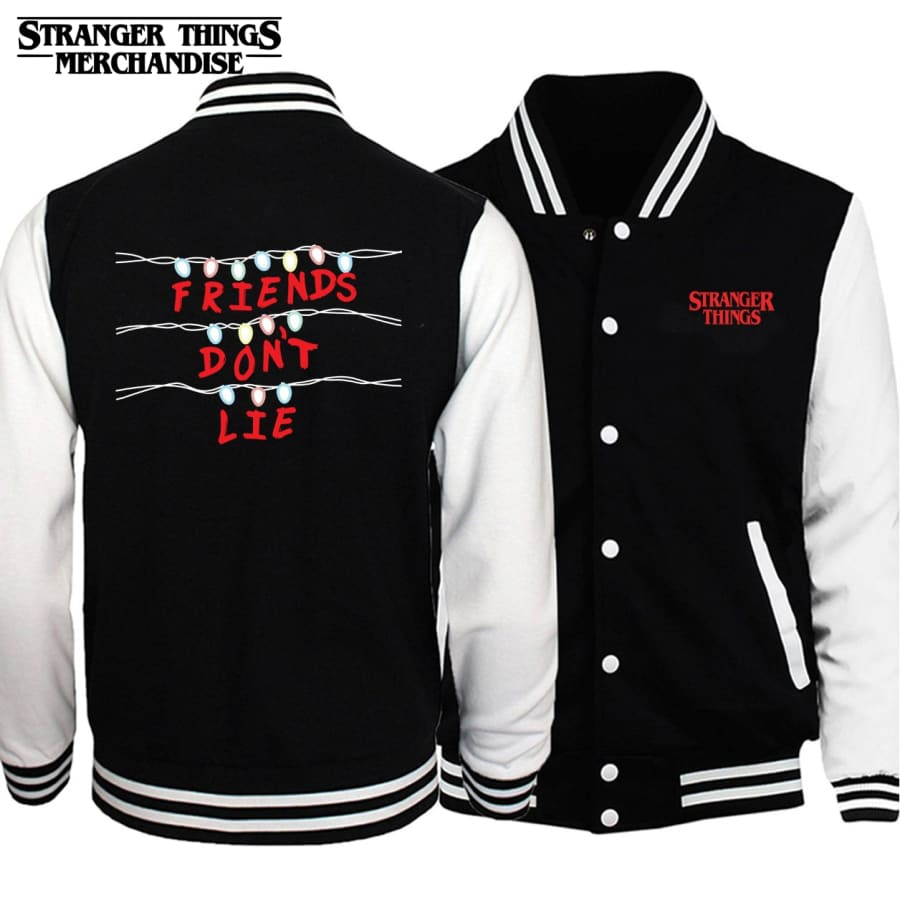 Stranger Things Varsity Jacket <br>Friends Don't Lie