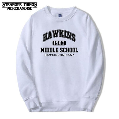 Hawkins middle school sweatshirt
