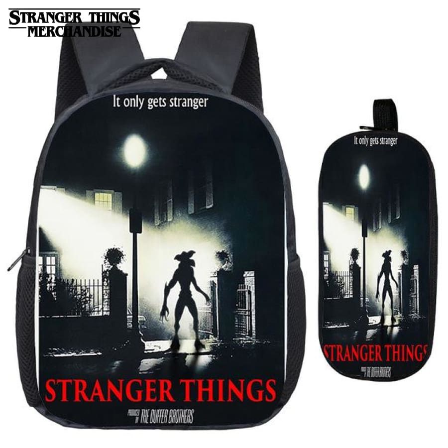 Stranger Things Backpack for School (FREE Pencil Case) <br> Horror Movie