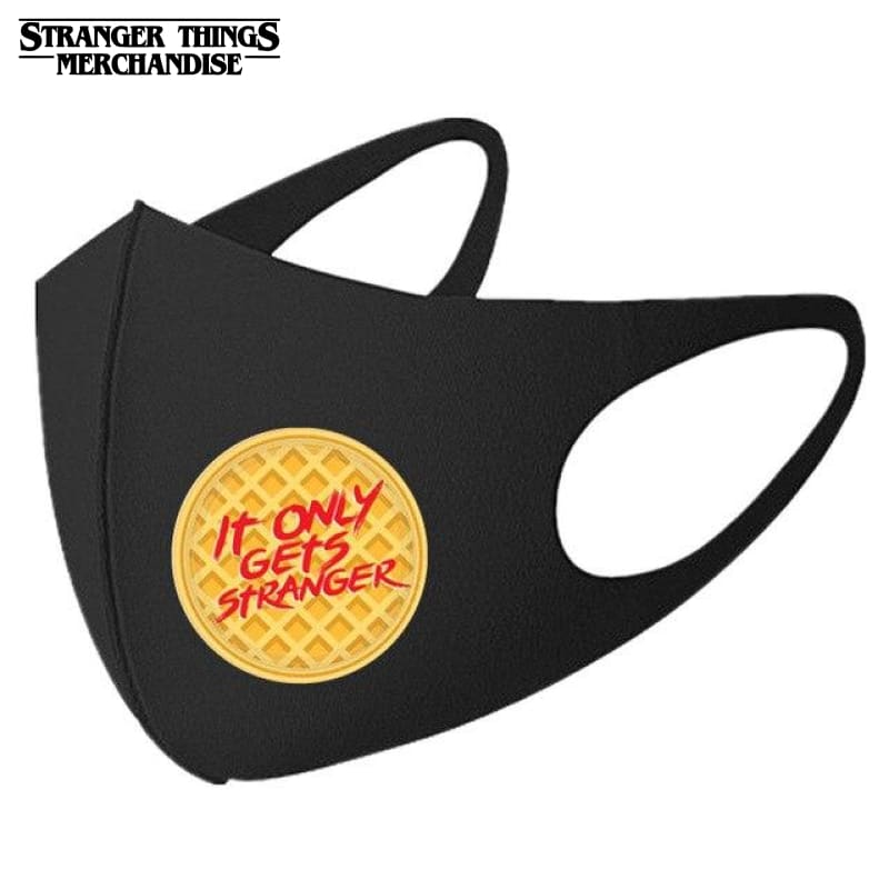 Stranger Things Face Mask <br>It Only Gets Stranger (Waffle)
