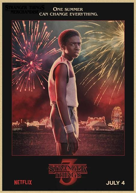 Stranger Things Season 3 Poster <br> Lucas