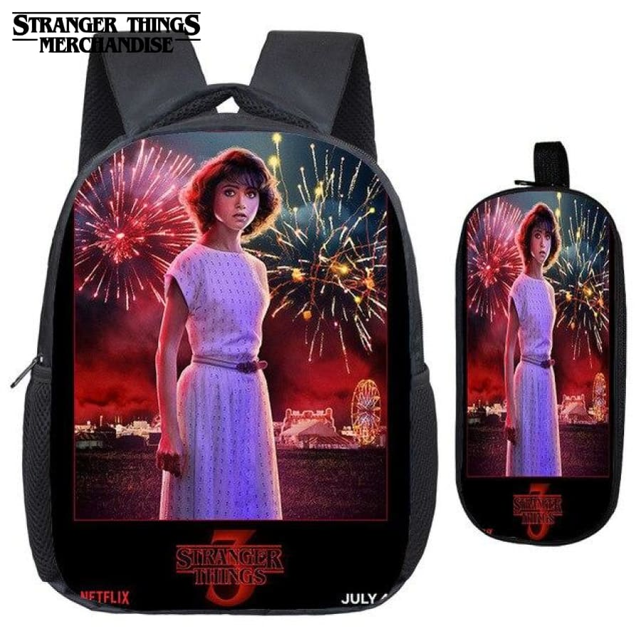 Stranger Things Backpack for School (FREE Pencil Case) <br> Teenage Girl