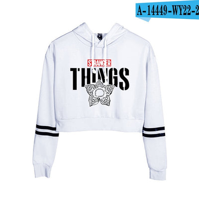 Stranger Things Crop Top Hoodie Demogorgon