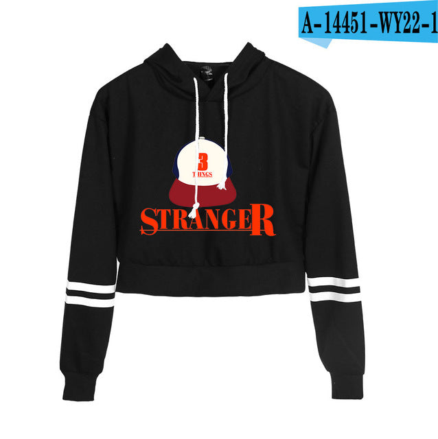 Stranger Things Crop Top Hoodie Stranger (Dustin)