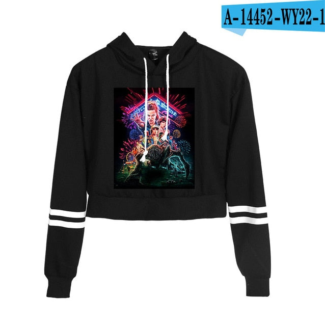 Stranger Things Crop Top Hoodie Season 3