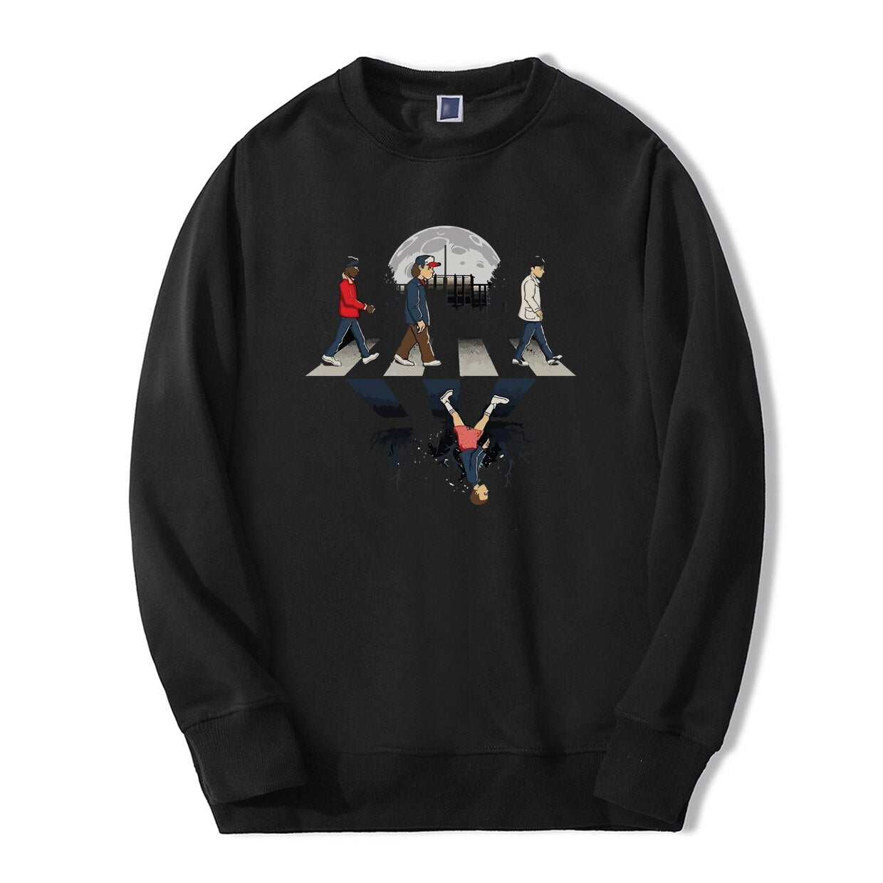 Stranger Things Sweatshirt Beatles crosswalk