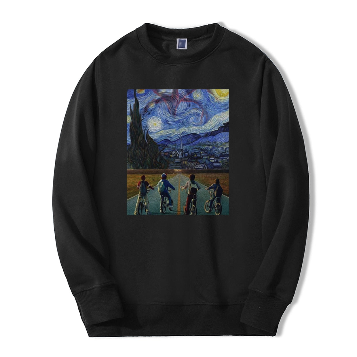 Stranger Things Sweatshirt Van Gogh Starry Night