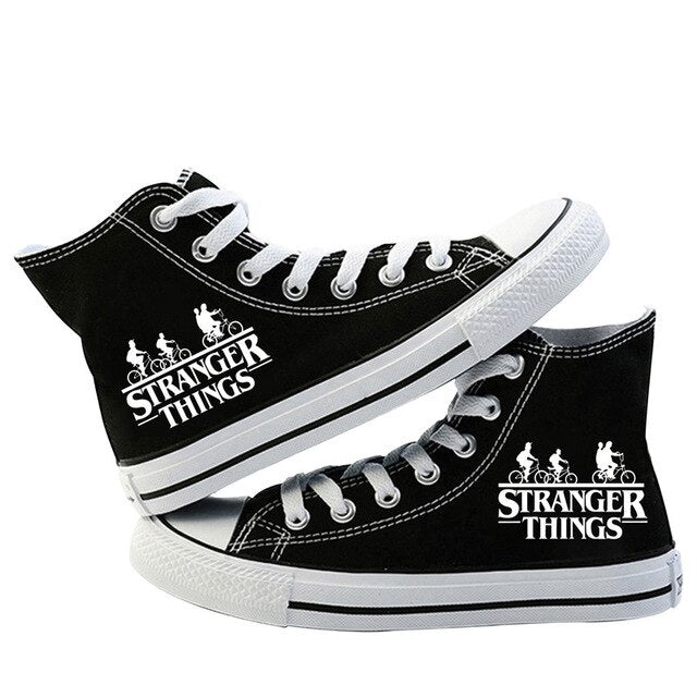 Stranger Things Shoes <br>White Logo