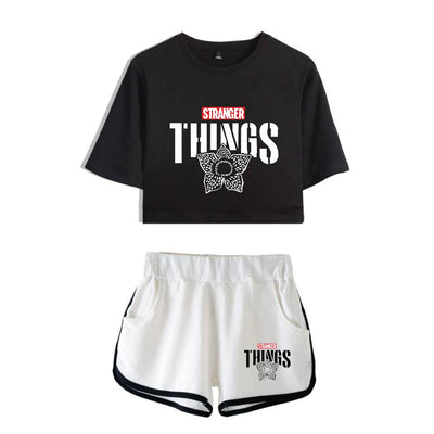 Stranger Things Crop Top and Shorts <br> Demogorgon Shirt