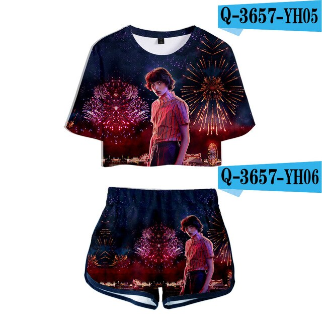 Stranger Things Crop Top and Shorts Mike