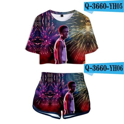 Stranger Things Crop Top and Shorts Lucas