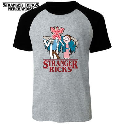 Rick and Morty Stranger Things T-shirt