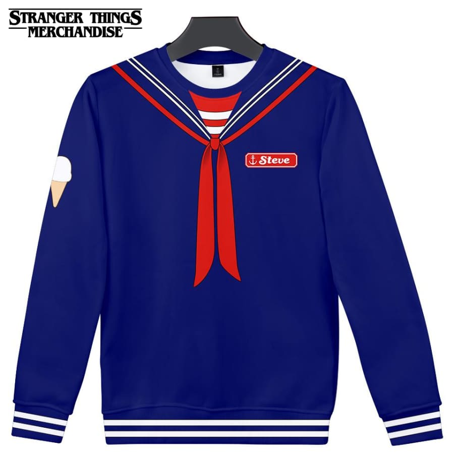 Stranger Things Sweatshirt <br>Steve Scoops Ahoy