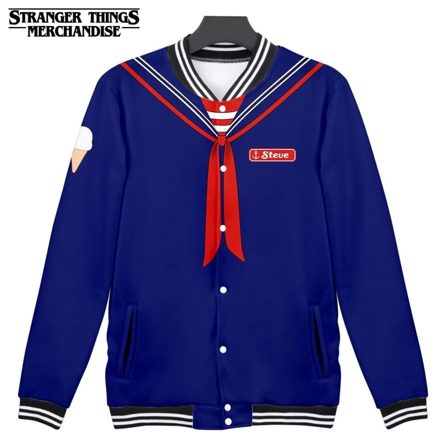 Stranger Things Varsity Jacket <br>Steve Scoops Ahoy