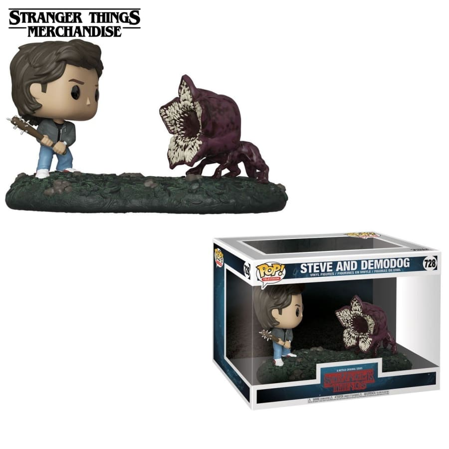 Stranger Things Funko Pop <br>Steve and demodog