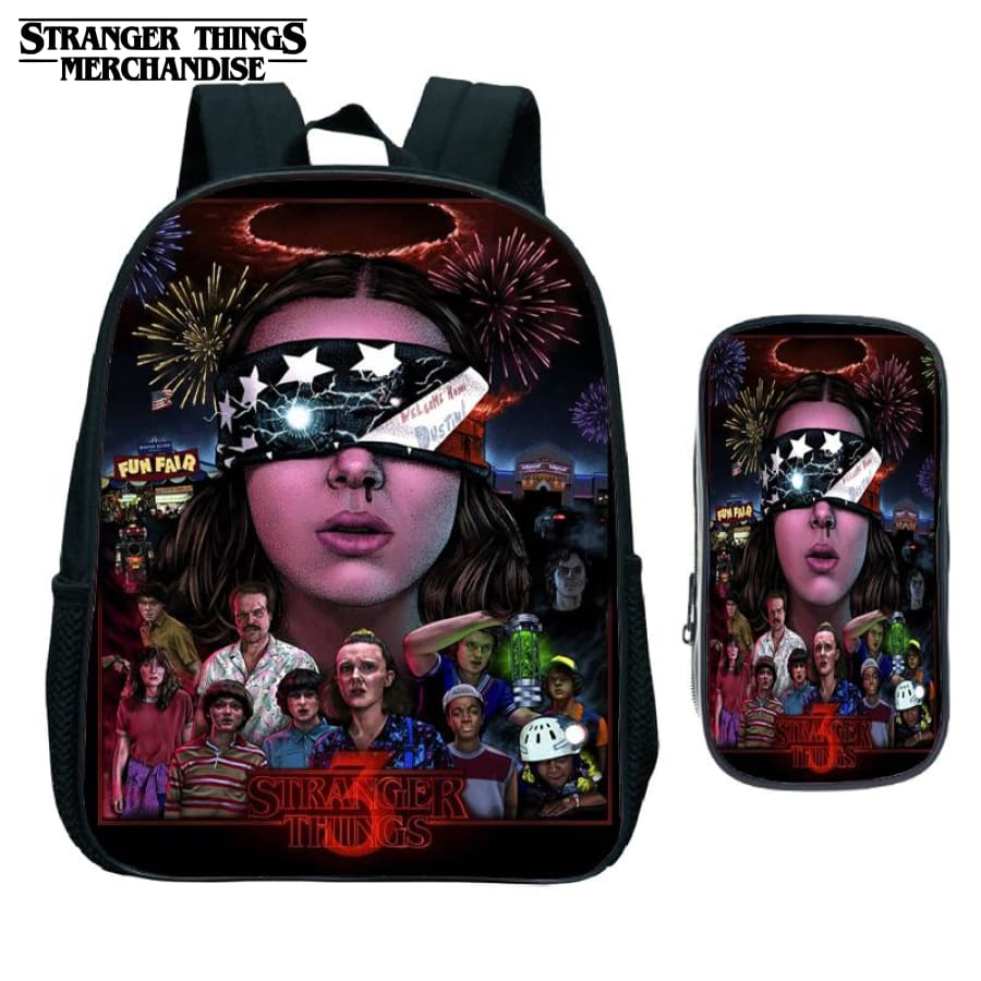 Stranger Things Backpack for School (FREE Pencil Case) <br> 3