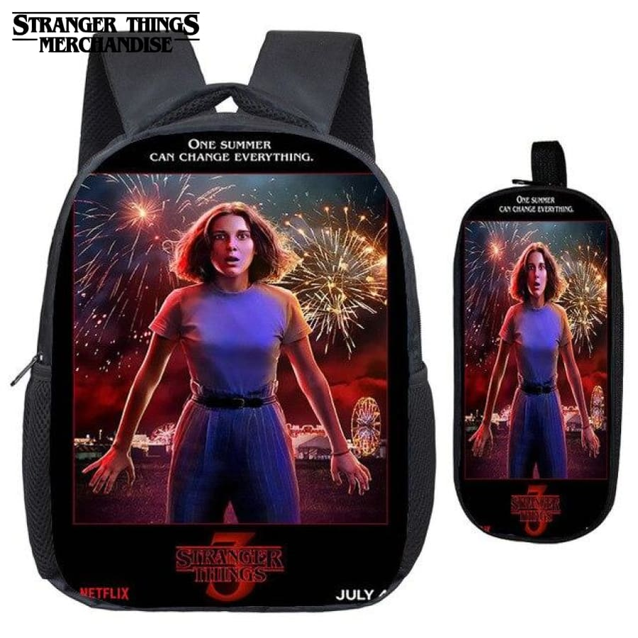 Stranger Things Backpack for School (FREE Pencil Case) <br> 3 Mini Backpack