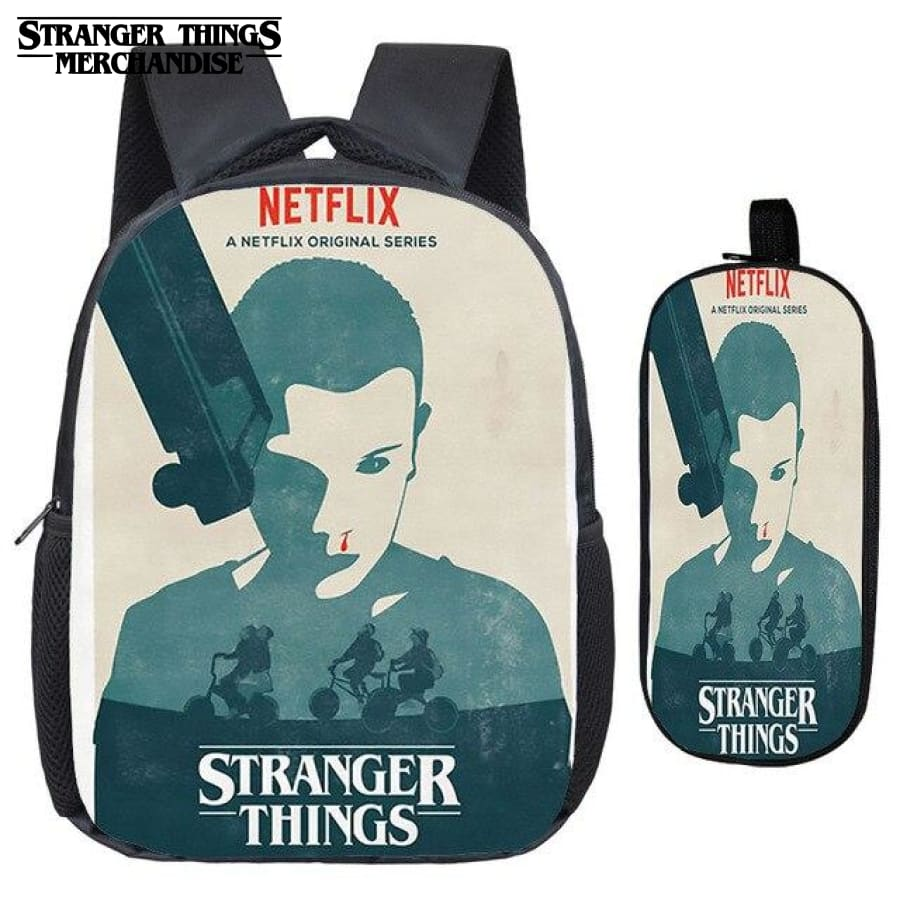 Stranger Things Backpack for School (FREE Pencil Case) <br> 11