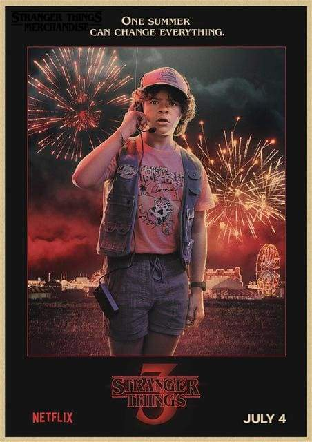 Stranger Things Season 3 Poster <br> Dustin Henderson