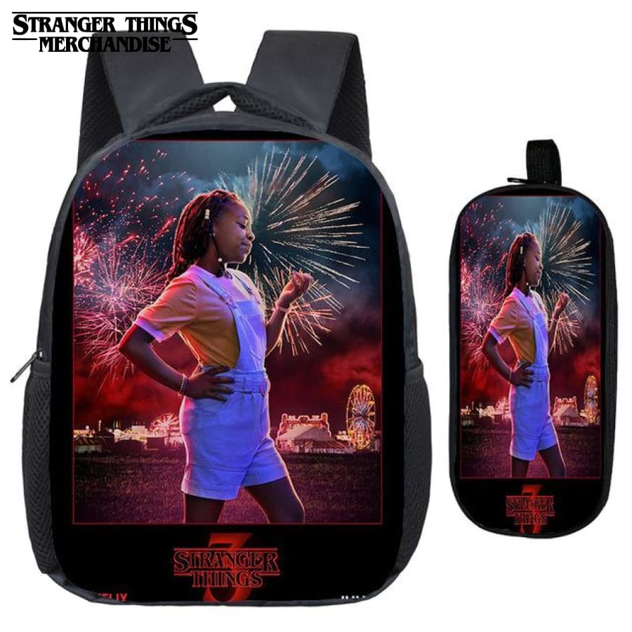 Stranger Things Backpack for School (FREE Pencil Case) <br> Erica