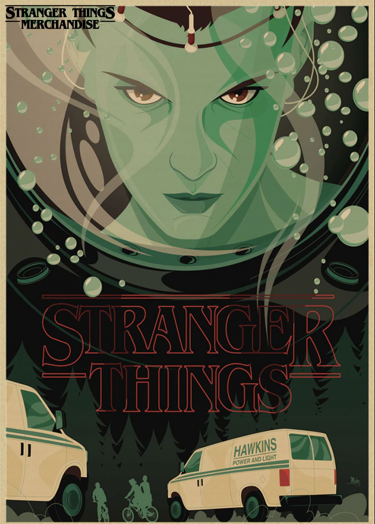 Stranger Things Poster <br>Hawkins Post Cast