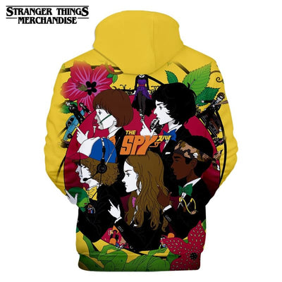 Stranger Things Hoodie Yellow
