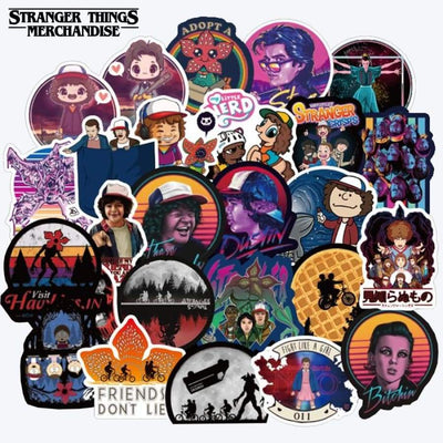 Stranger things hydro flask stickers
