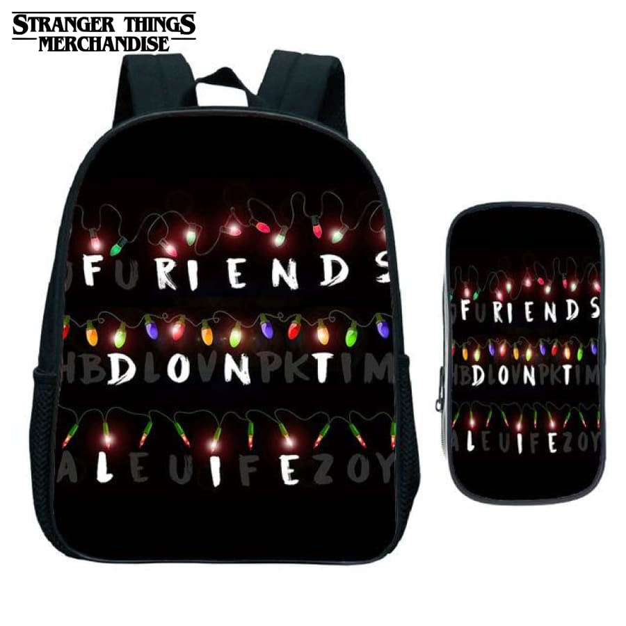 Stranger Things Backpack for School (FREE Pencil Case) <br> Large