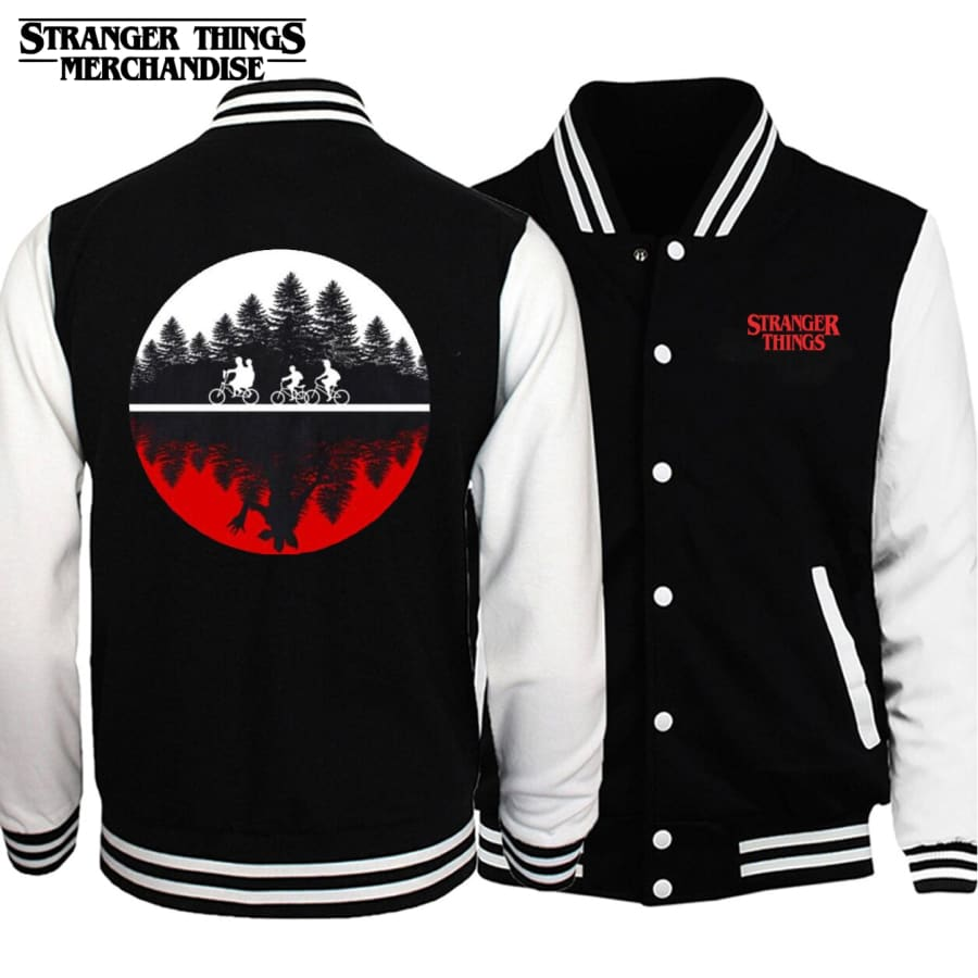 Stranger Things Letterman Jacket <br>Upside down