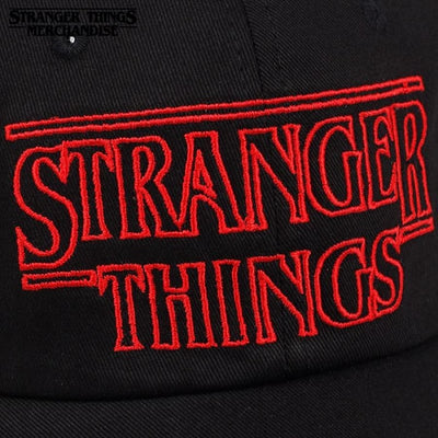 Stranger things logo hat