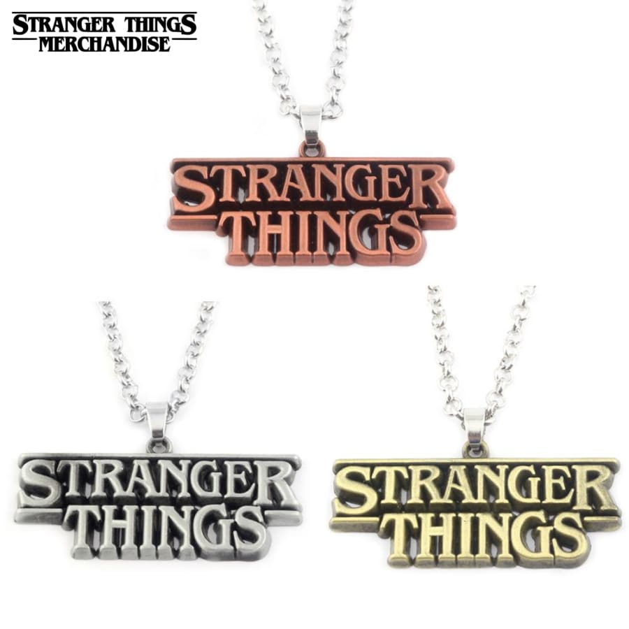 Stranger things logo necklace