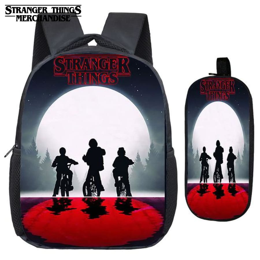 Stranger Things Backpack for School (FREE Pencil Case) Comic