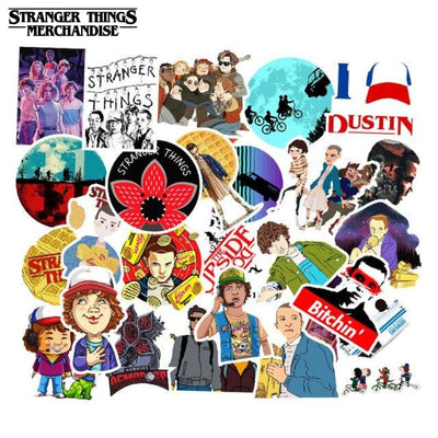 Stranger Things Stickers for Water Bottle