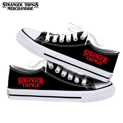 Stranger Things Shoes Logo Red