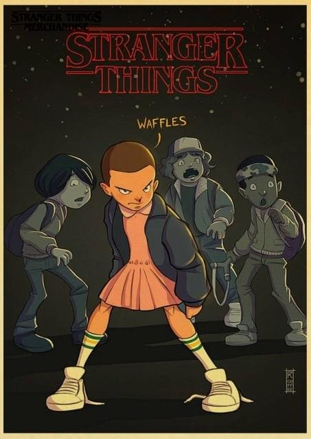 Stranger Things Poster <br> Cartoon