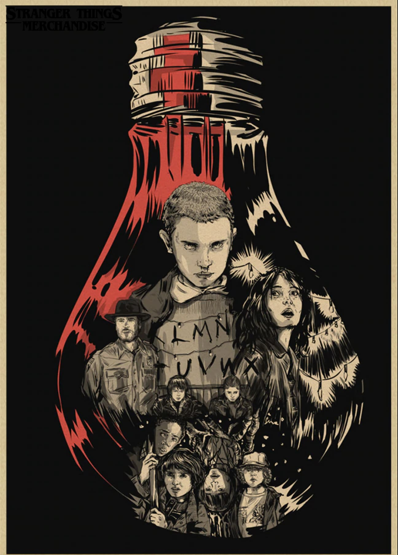 Stranger Things Poster <br>Size Medium
