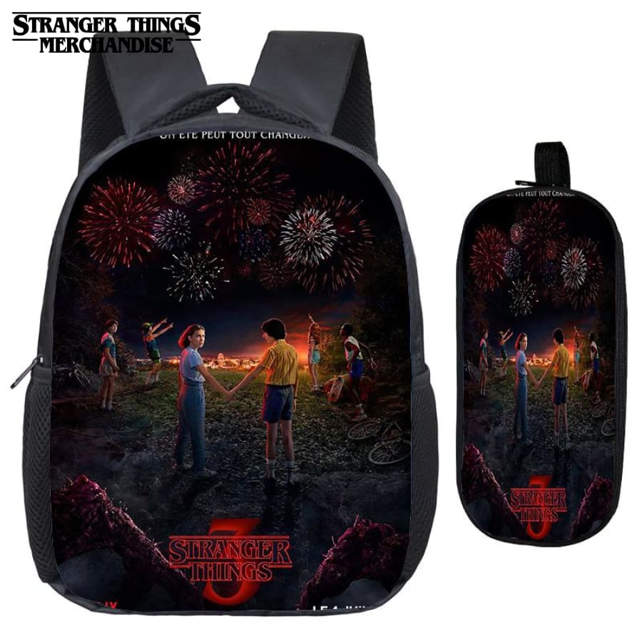 Stranger Things Backpack for School (FREE Pencil Case) <br> Season 3