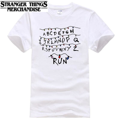 Stranger Things Shirt Alphabet Wall T-shirt
