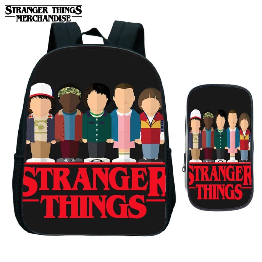 Stranger Things Backpack for School (FREE Pencil Case) <br> Small